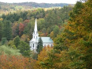 Autumn View of South Woodbury Church