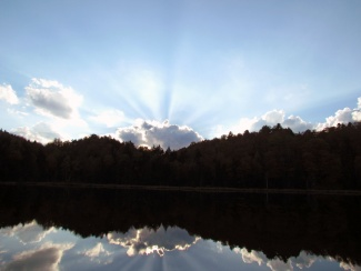 Reflection of Sun Rays, Woodbury Vermont
